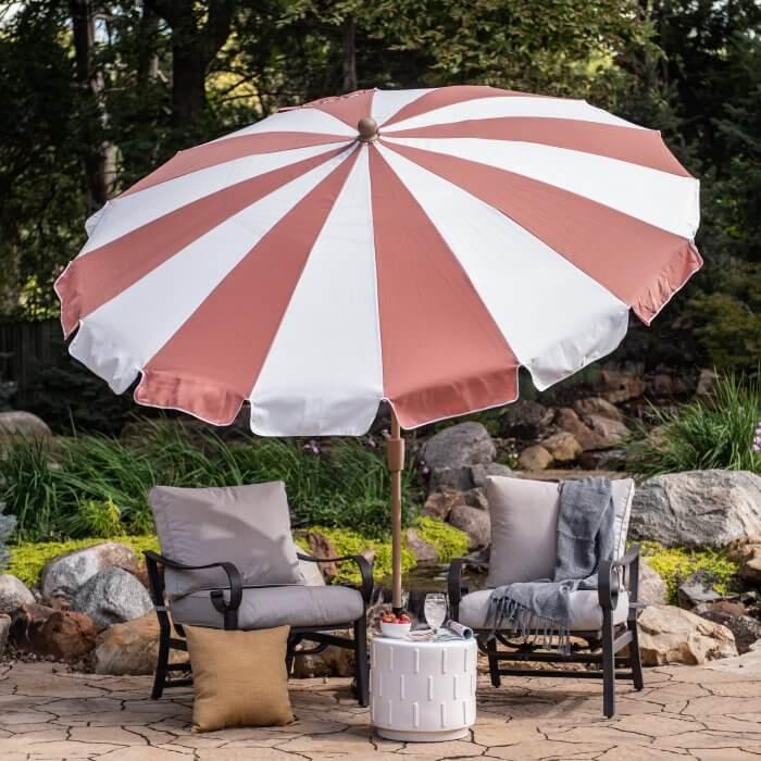 Vintage Inspired Market Style Umbrella