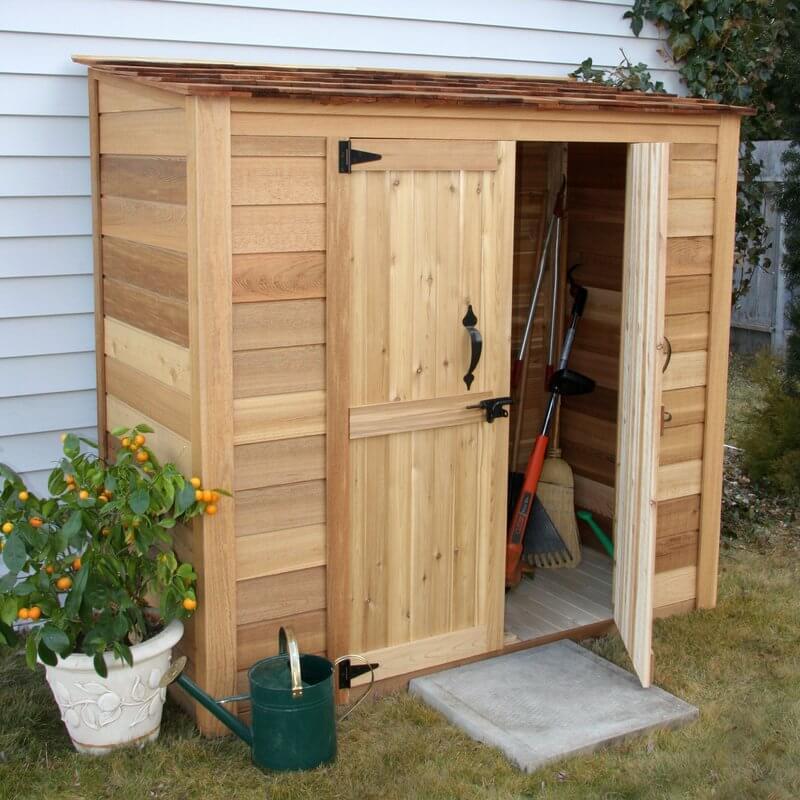 Western Red Cedar Lean-To Storage Shed