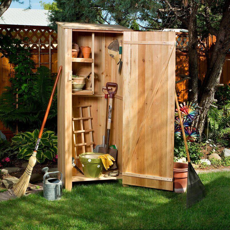 Western Red Cedar Vertical Storage Shed