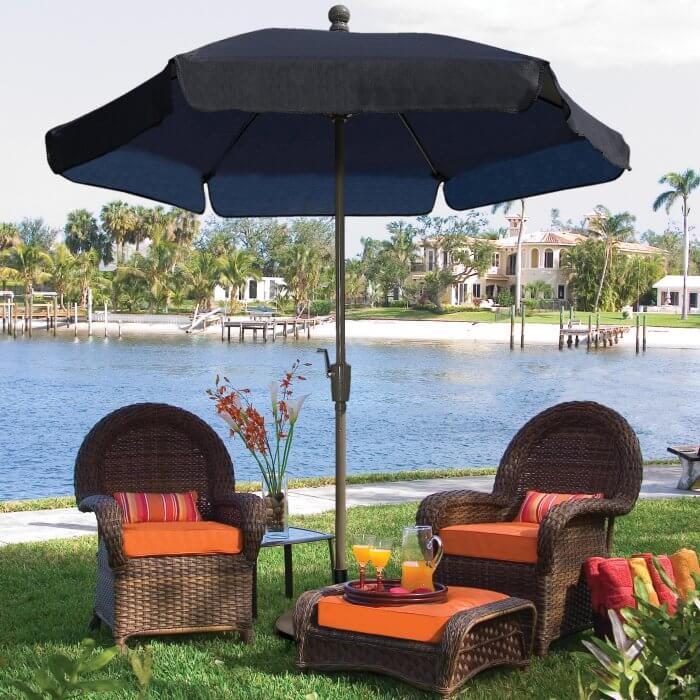 Wind Resistant Patio Umbrella