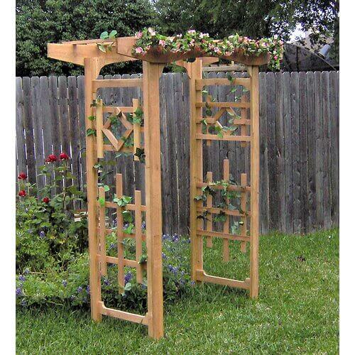 window style wood arbor