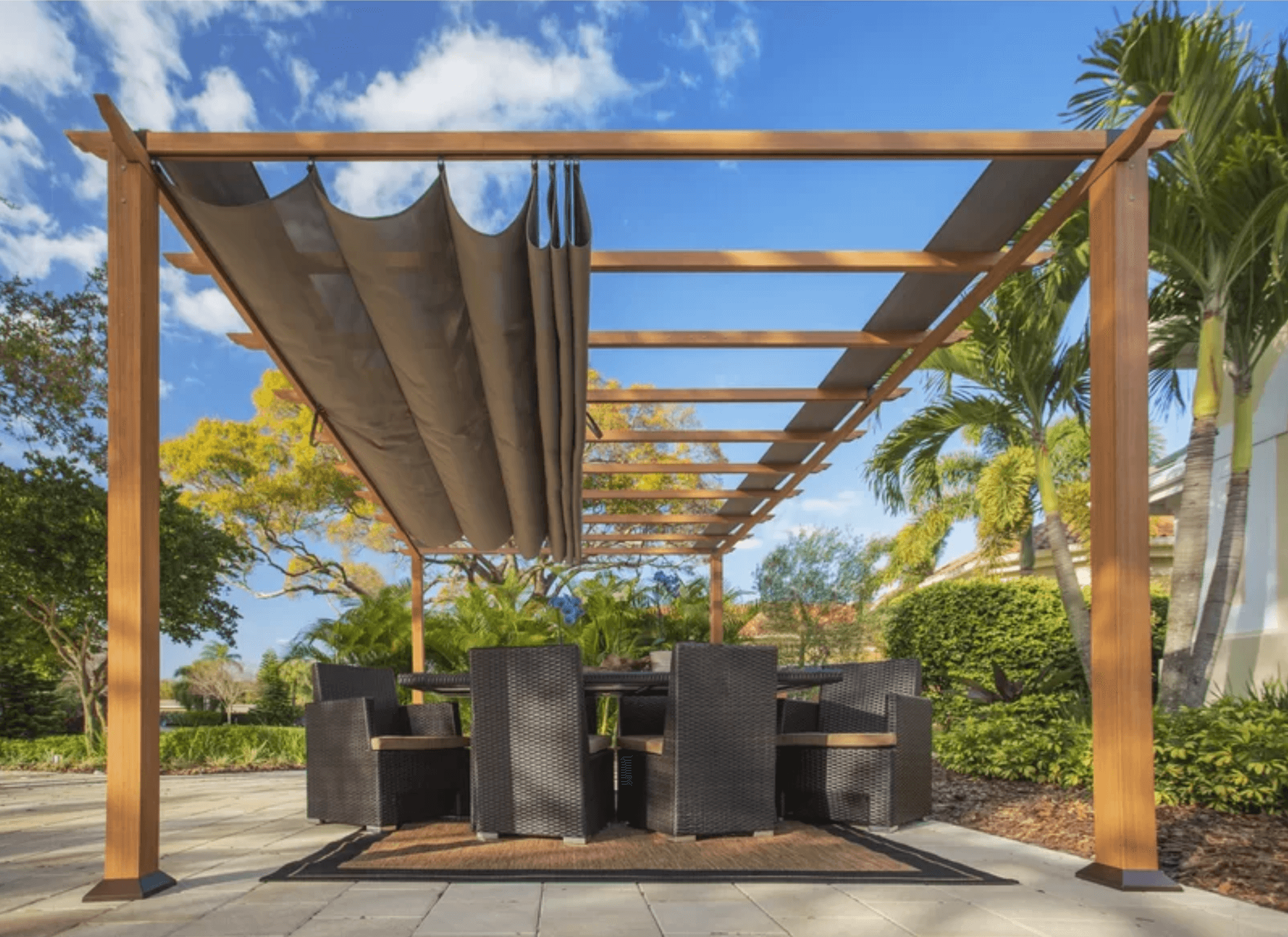 Best Aluminum Pergola (Our 2019 Top Picks) • Insteading on pergola with fire pit, metal carports attached to house, pergola attached to ranch style homes, trellis attached to house, patio covers attached to house, adding a pergola to a ranch style house, garden sheds attached to house, rustic pergolas attached to house, building a pergola attached to the house, pergola off house, greenhouse attached to house, pergola side of house, covered pergola connected to house, outdoor pergolas attached to house, black pergola attached to house, pergola in front of garage, outdoor kitchen attached to house, gazebo attached to house, pergola kits, vinyl pergolas attached to house,