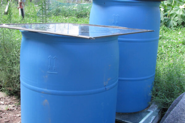 biosand filter and rain barrel