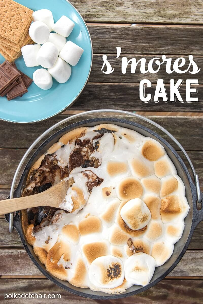 dutch oven smores cake
