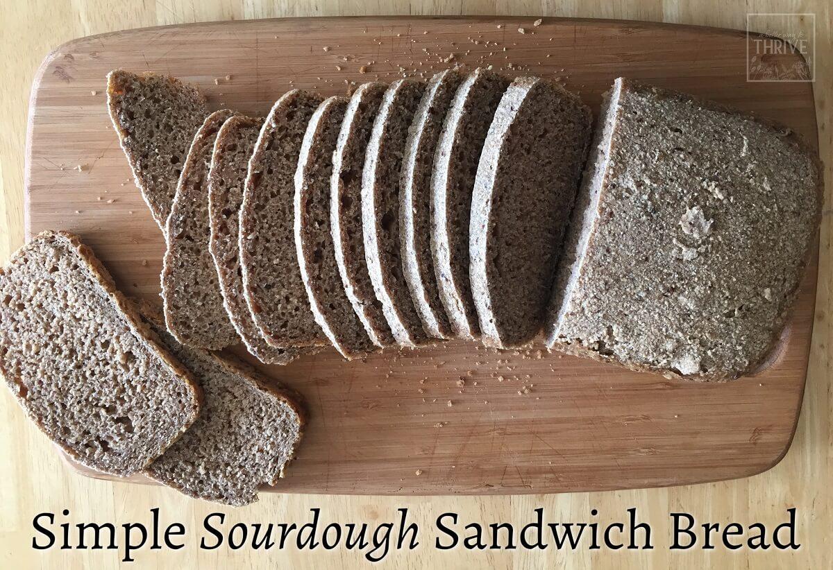 simple sourdough sandwich bread