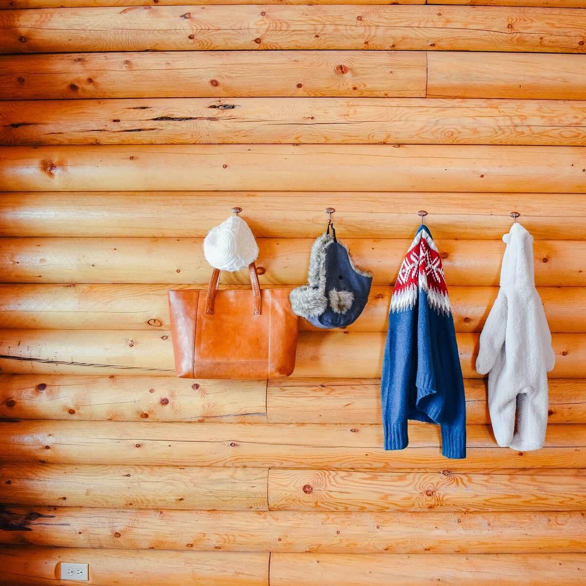 hooks in cabin