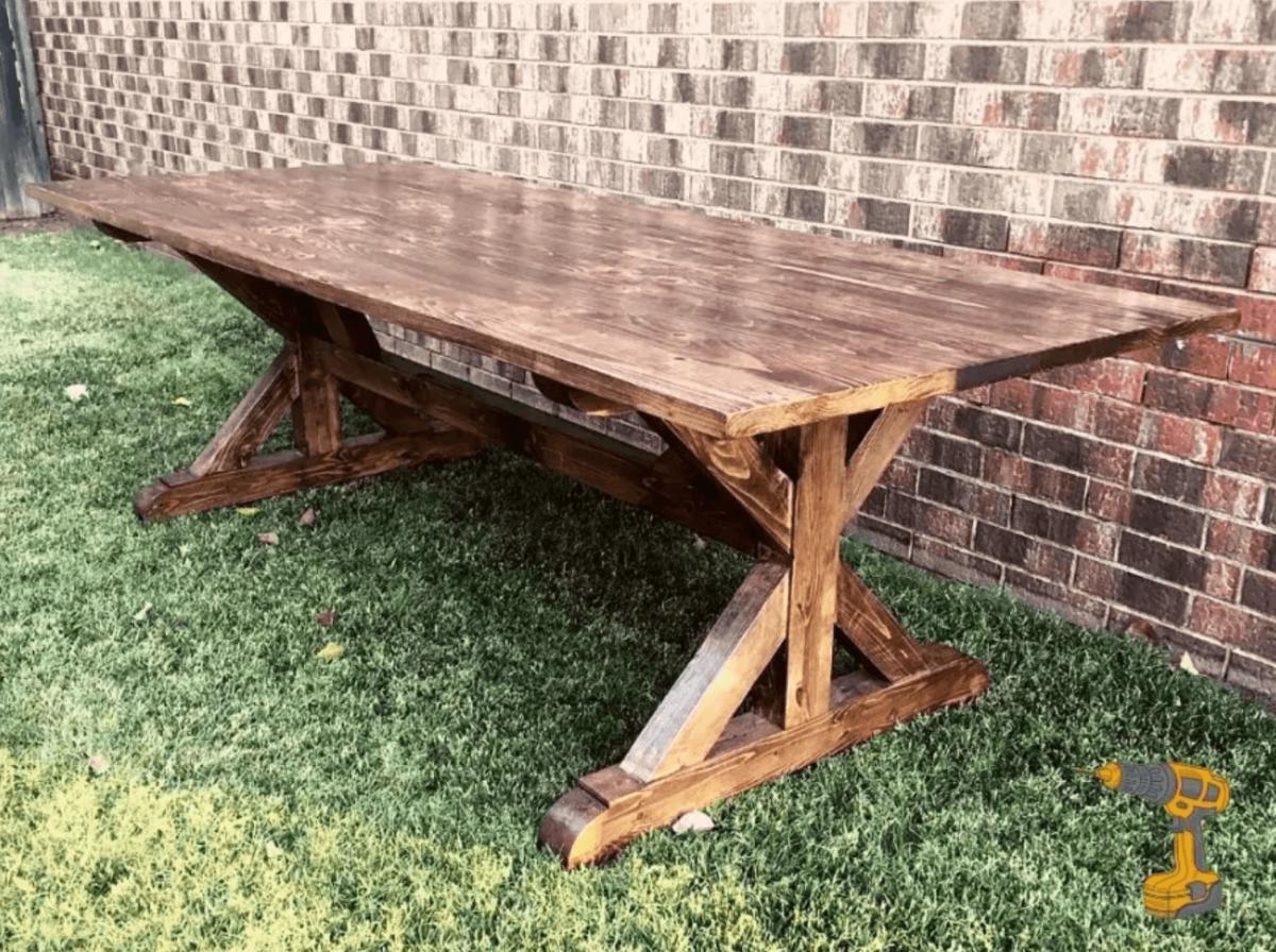 Farmhouse Table Plans Insteading