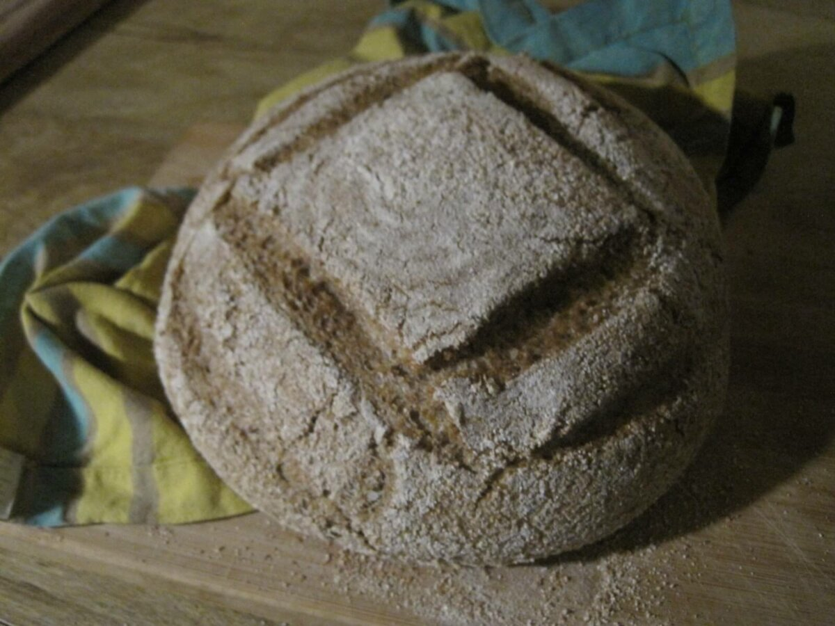 finished bread loaf