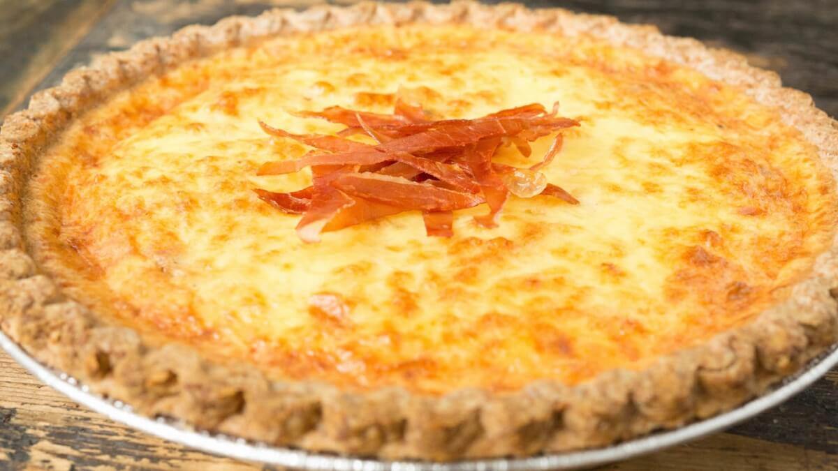 bacon duck egg quiche