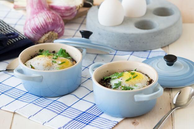 duck egg quiche