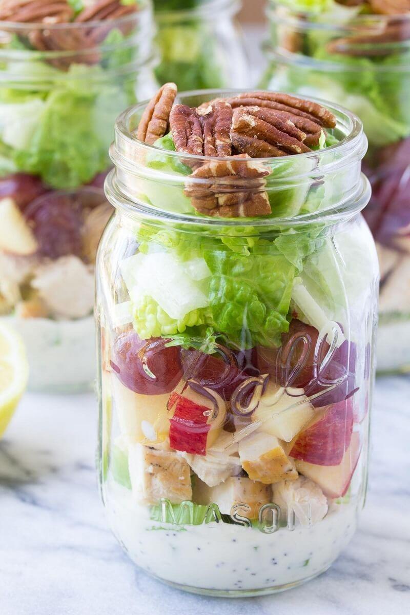 chicken salad in a jar