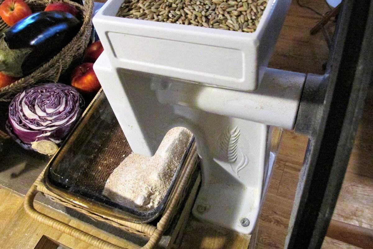 grinding flour