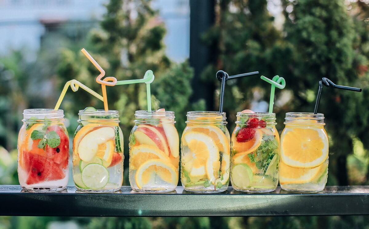 cool and colorful drinks