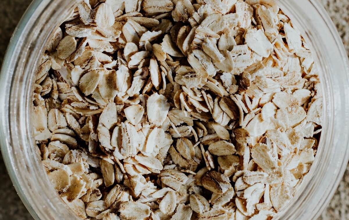 oatmeal in jar