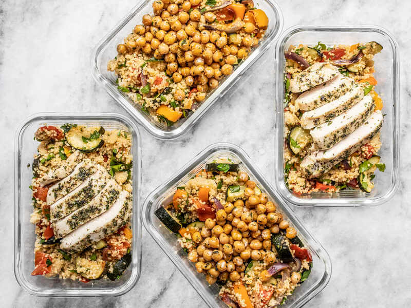 roasted vegetable couscous meal prep