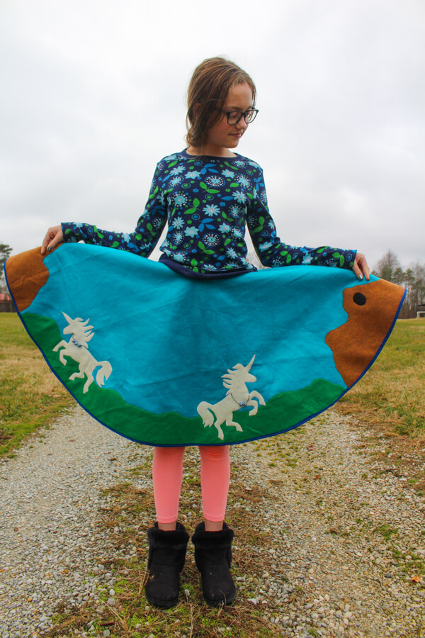 girl wearing poodle skirt