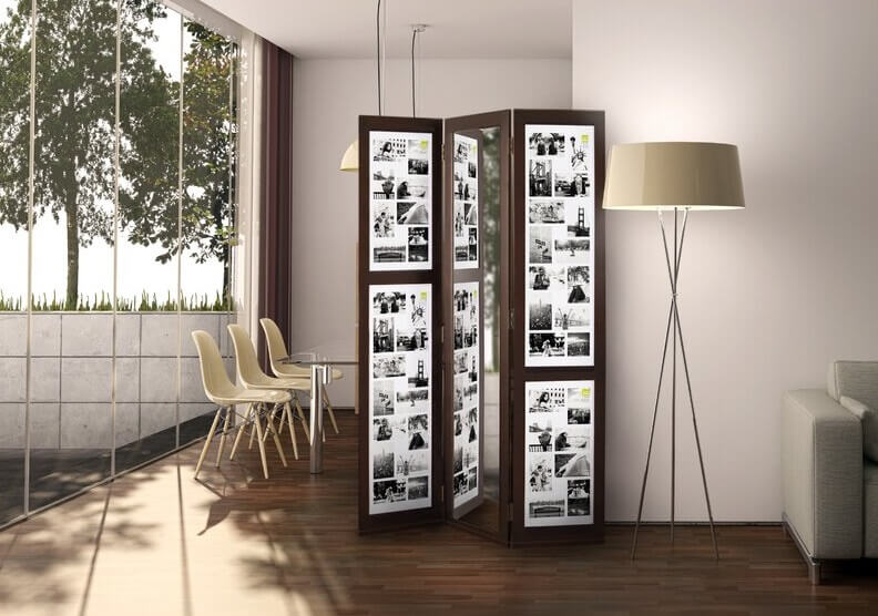room divider with photos