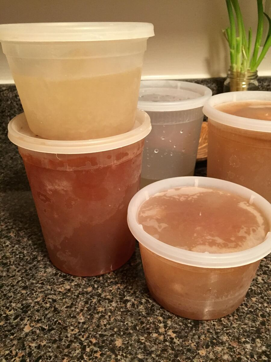 finished chicken stock
