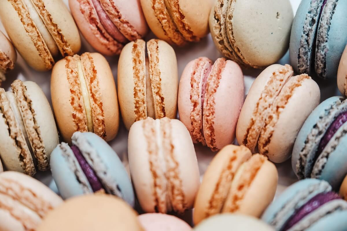fruit and nut macarons