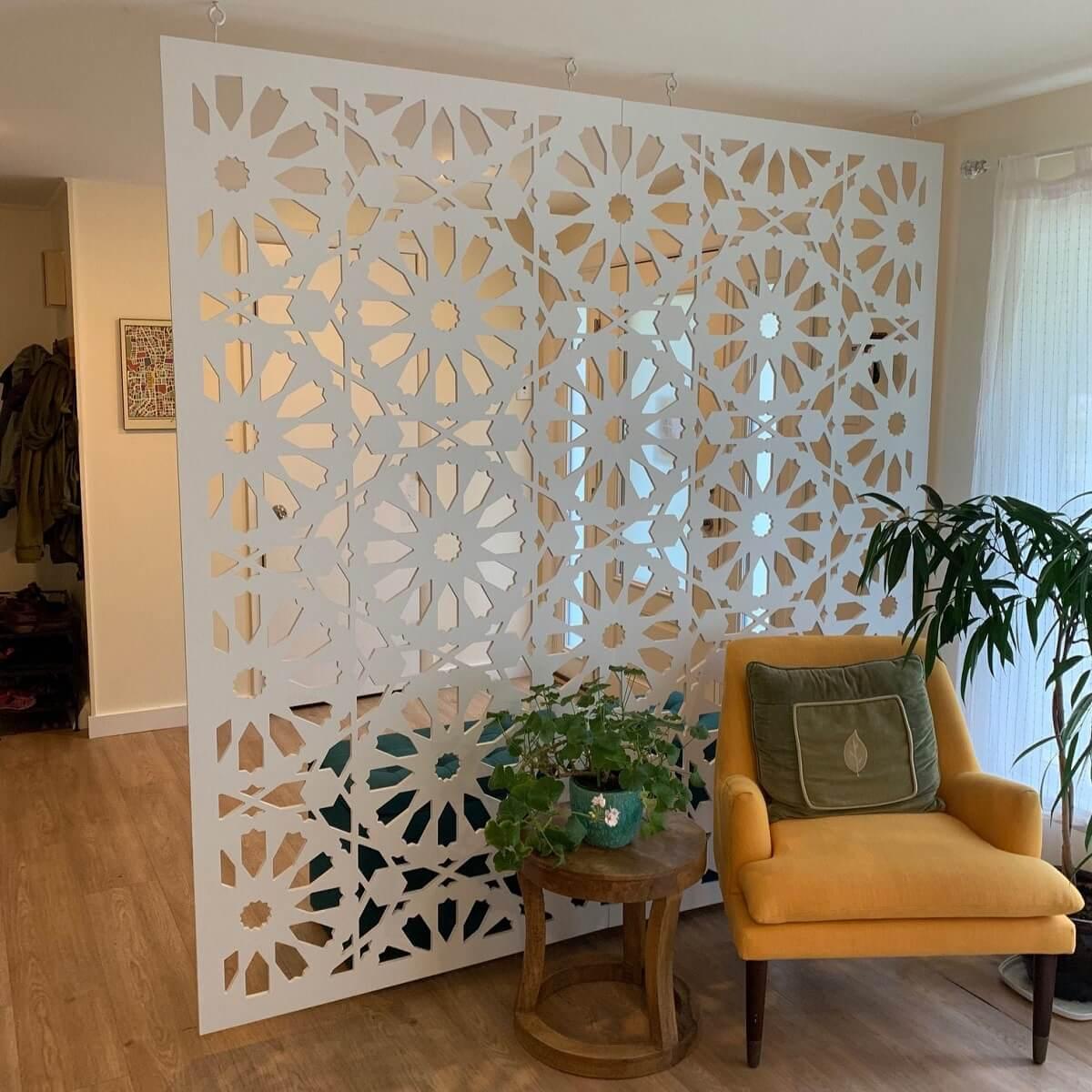 geometric wall divider