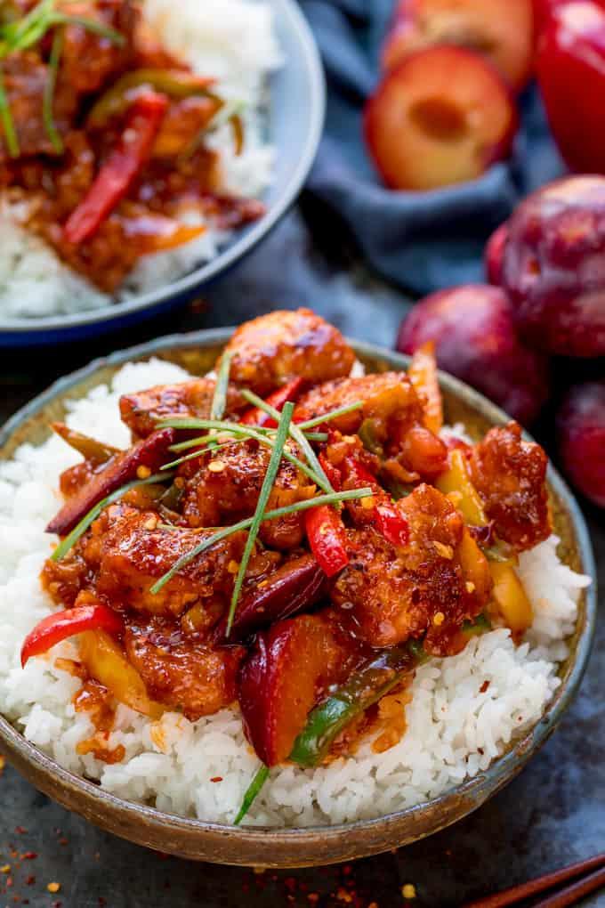 chinese plum stir fry