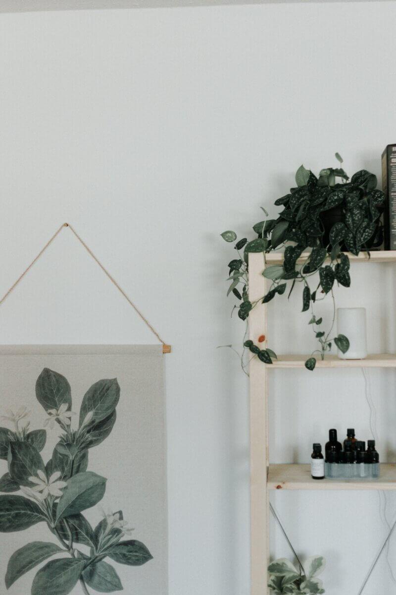aromatherapy shelf