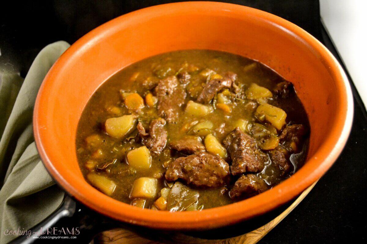 red wine venison stew