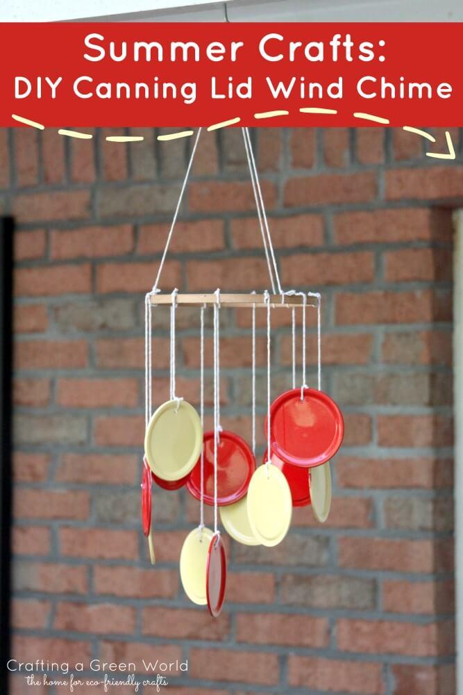 mason jar lid wind chimes