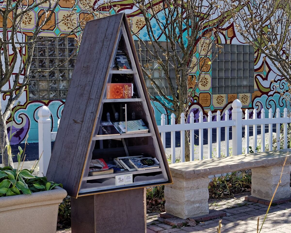 a-frame little free library