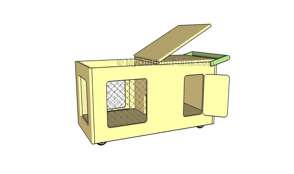 indoor rolling rabbit hutch plans