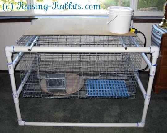 pvc rabbit hutch plans