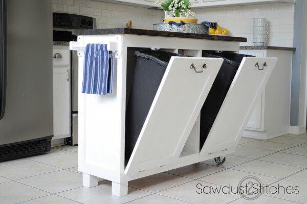 refurbished kitchen island from cabinets