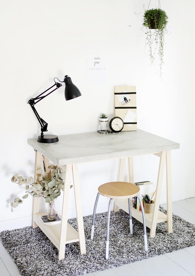 concrete DIY desk