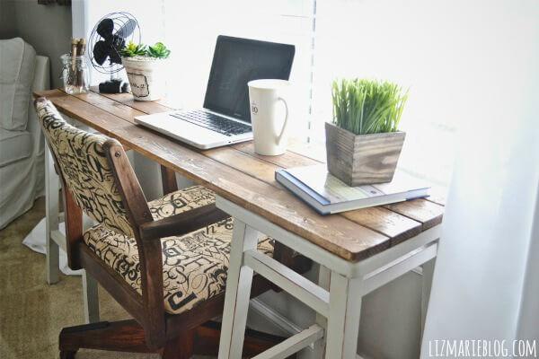 narrow desk