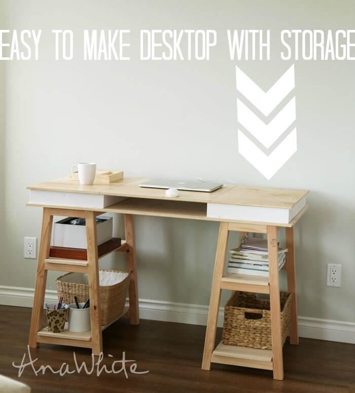sneaky storage desk
