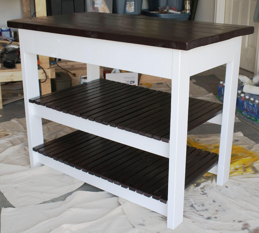 double shelf kitchen island