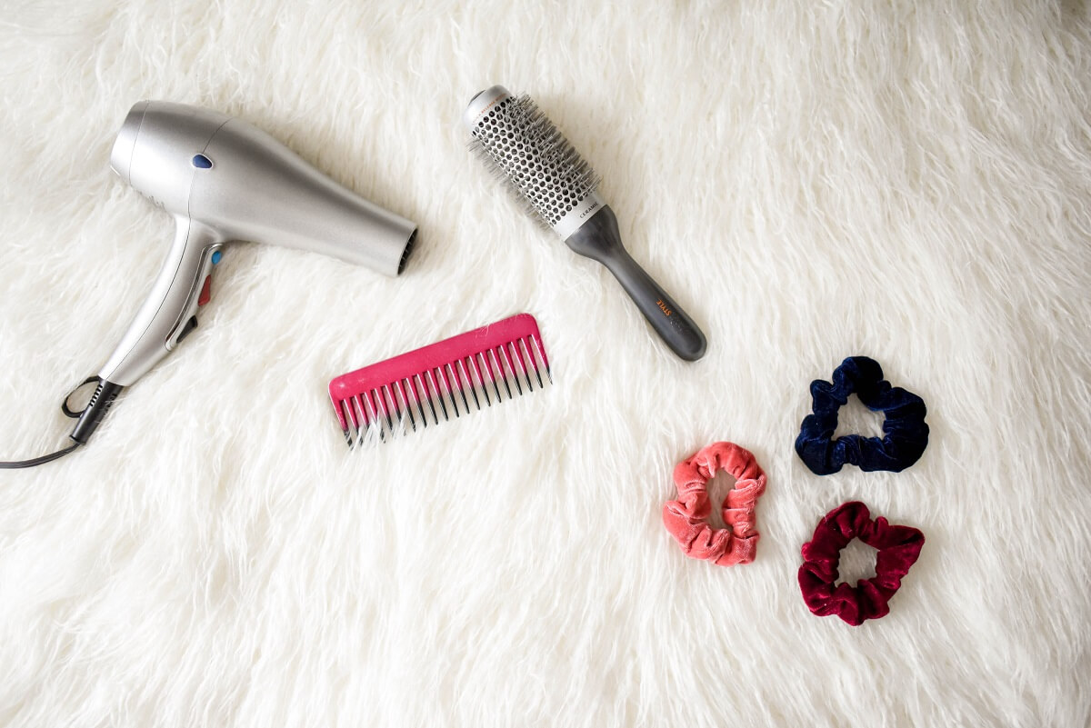 hair brush and dryer