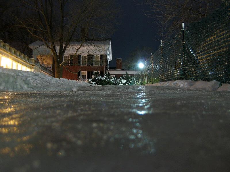 icy walk way