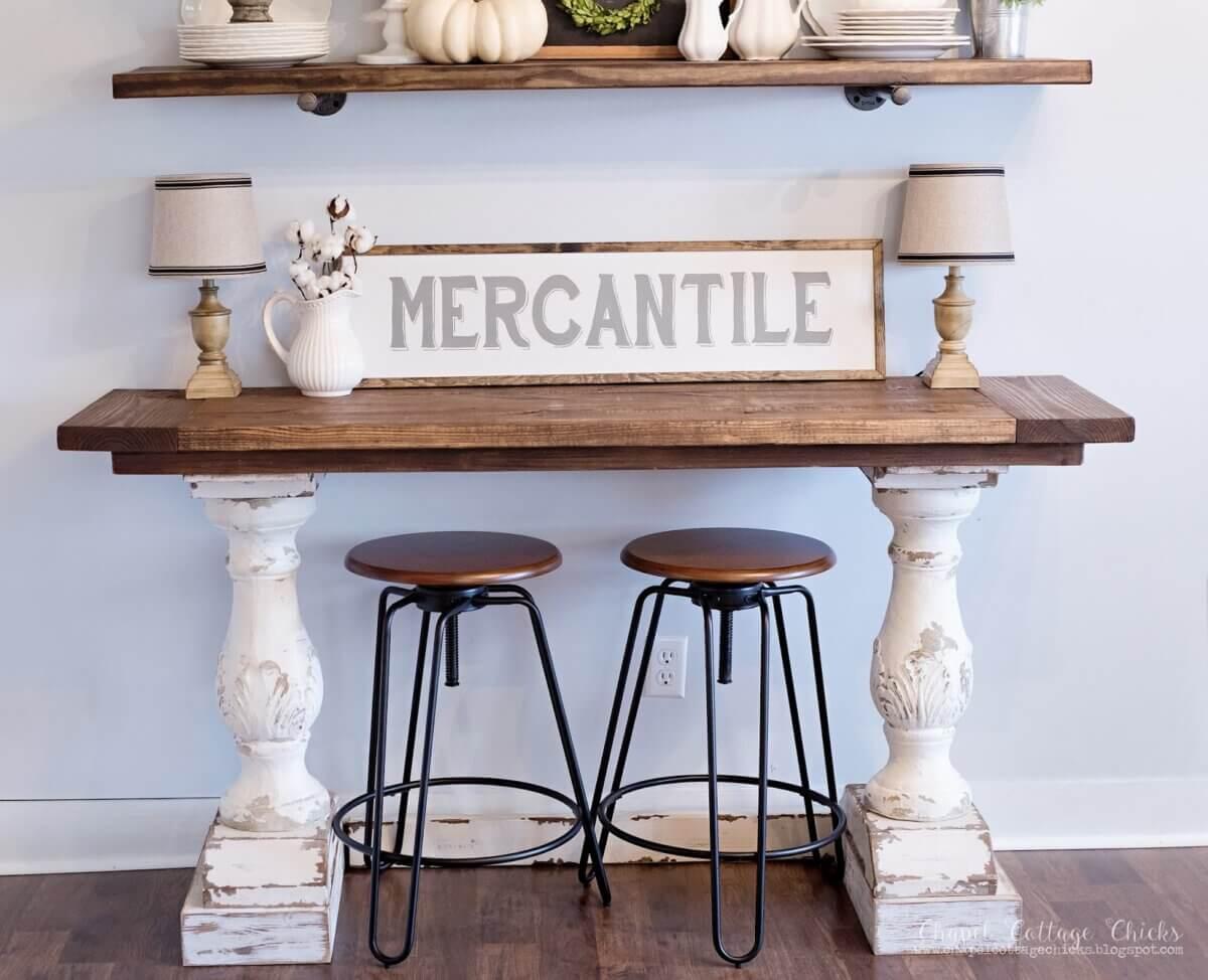 pedestal DIY desk