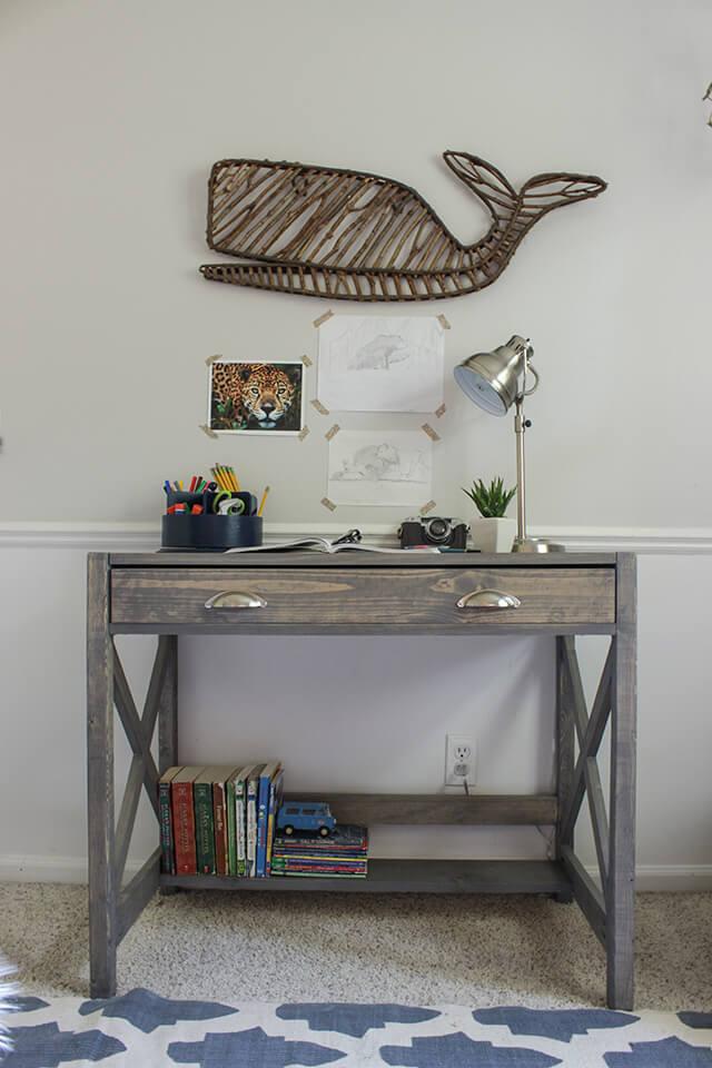 x-frame DIY desk