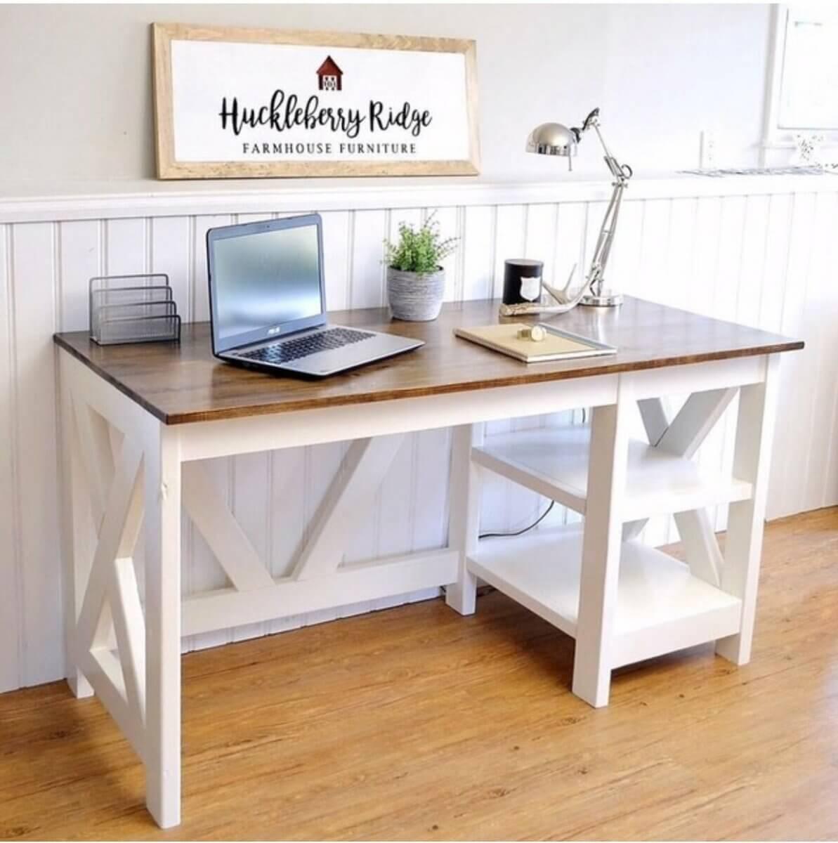 farmhouse-style office desk