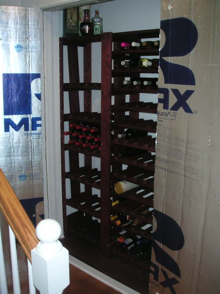DIY closet wine cellar