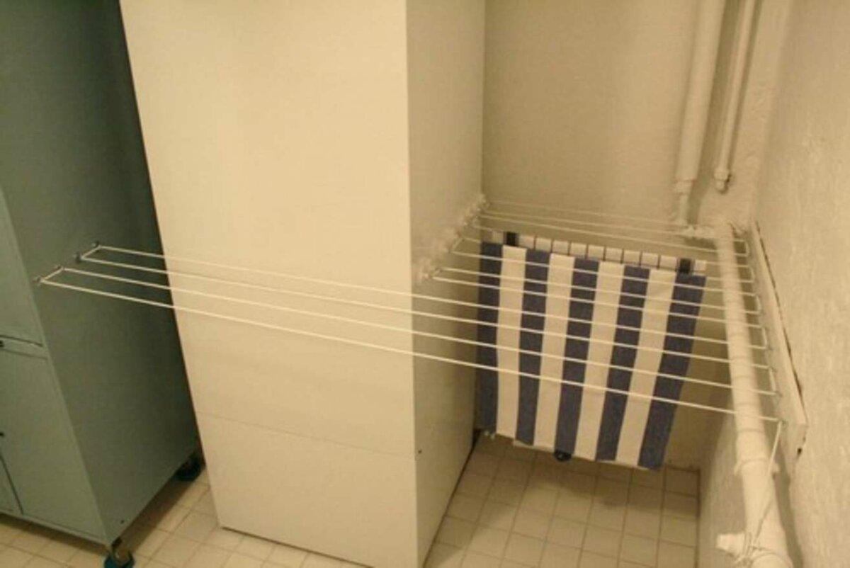 space efficient indoor clothesline