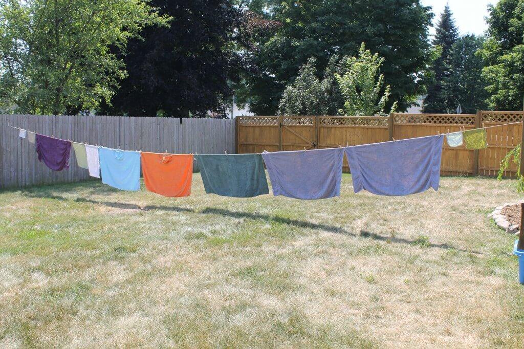 large DIY clothesline