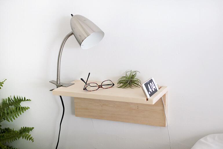floating DIY nightstand