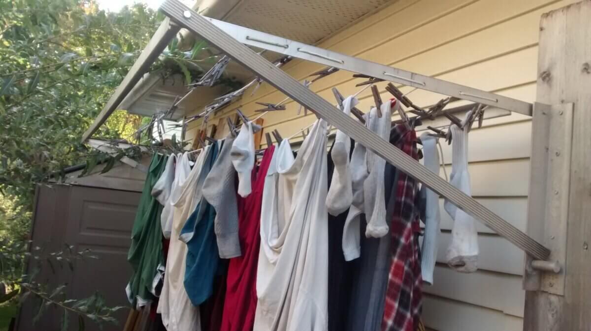 foldable clothesline