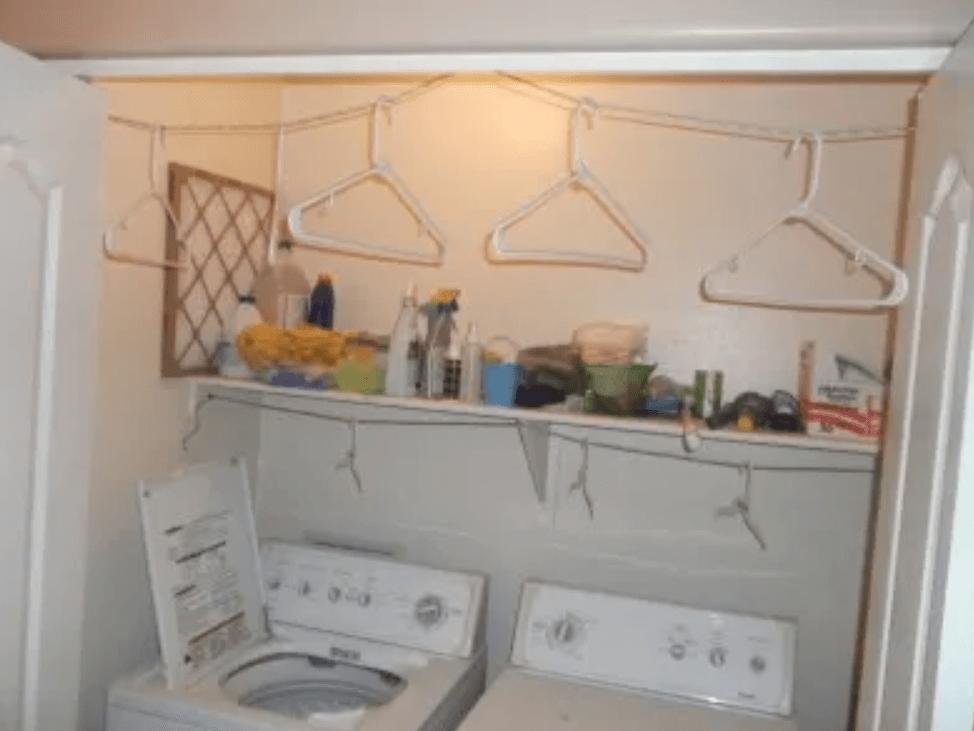 closet clothesline