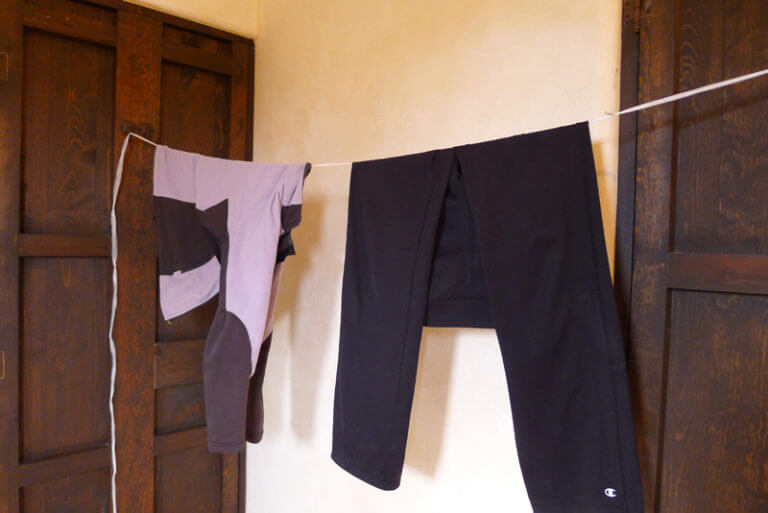 upcycled plastic clothesline