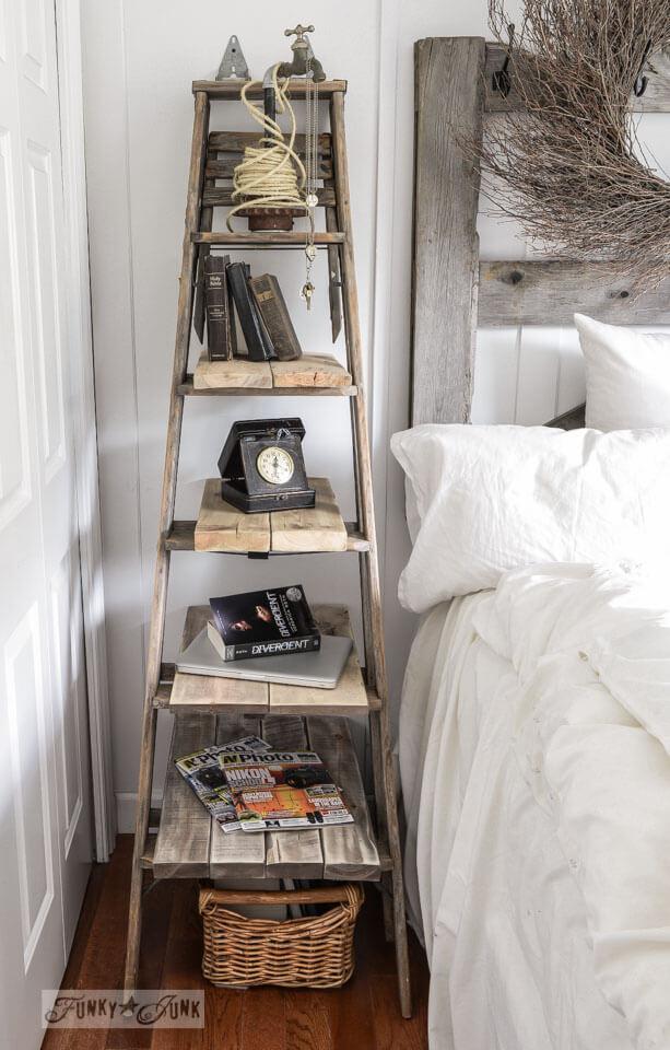 ladder style DIY nightstand