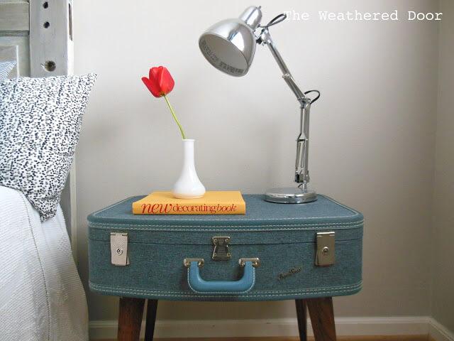 upcycled DIY nightstand
